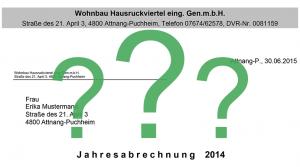 Fragen zur Jahresabrechnung 2015